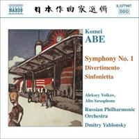 ABE: Symphony No. 1, Divertimento YABLONSKY/VOLKOV/RUSSIAN PO
